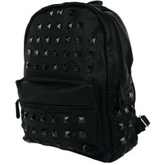 West Coast Wardrobe High Class Studded Backpack In Black ($57) ❤ liked on Polyvore featuring bags, backpacks, accessories, west coast wardrobe, knapsack bag, studded bag, studded backpack and backpack bags