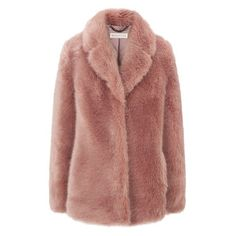 whistles faux fur coat ❤ liked on Polyvore featuring coats, jackets, outerwear and tops