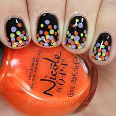 Halloween Dottifall Nail Art | Peachy Polish