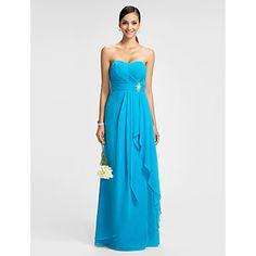 Free Measurements ! Sheath/Column Sweetheart Floor-length Chiffon Evening/Prom Dress – AUD $ 138.12