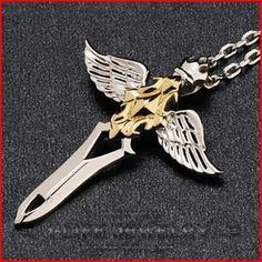 Fashion perhiasan 925 Sterling Silver Guy perak kuning emas putih malaikat pedang liontin isian kalung tanpa pengaturan di Liontin dari Perhiasan AliExpress.com | Alibaba Group