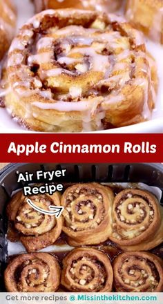 Add these quick and easy Apple Cinnamon Rolls to your baking list. They are sure to be a family favorite that everyone will love. Serve them up with rich and creamy hot chocolate for a really special treat. Best Dessert Recipes, Easy Desserts, Sweet Recipes, Delicious Desserts, Brunch Recipes, Fall Recipes, Breakfast Recipes, Apple Cinnamon Rolls, Cinnamon Apples