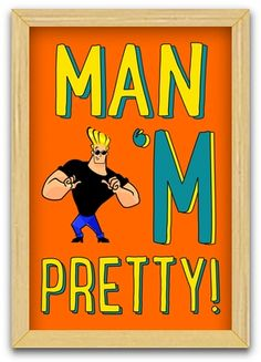 Johnny Bravo (art print) <3 Get it on @cupick