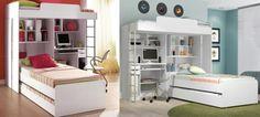 Modulo Office Teen Beliche C/ Cama Auxiliar Juvenil Treliche - R$ 1.297,00 no MercadoLivre