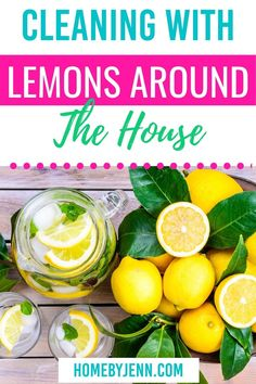 Cleaning with lemons will leave any area smelling fresh and clean. There are so many ways you can clean with lemons. I'm going to show you what to clean with lemons around the house. Lemons might just become your favorite cleaning tool! via @homebyjenn Cleaning Routines, Daily Routines, Cleaning Hacks, Gross Food, All Purpose Cleaners, Best Blogs, Fresh And Clean, Decluttering, Natural Living