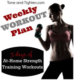 5 great at-home strength training routines from Tone-and-Tighten.com! #workout #fitness #exercise