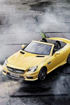 ♂ Yellow car Mercedes Benz SL