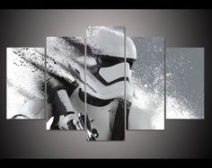 5 Piece Stormtrooper Panoramic Canvas Set
