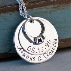Anniversary Necklace / Hand Stamped by IntentionallyMe on Etsy