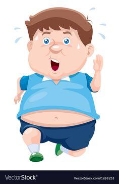 Fat man vector image on VectorStock Fat Girl Cartoon, Cartoon Pics, Cartoon Drawing Tutorial, Cartoon Girl Drawing, Cartoon Drawings Of People, Drawing People, Man Clipart, Sad Anime Girl, Man Vector