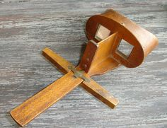 Antique Wood Stereoscope Viewer, Keystone View Company, Vintage Stereo Slide Viewer, Stereoview, Stereoscopic 3D Viewe Finder, Stereograph, by ninthstreetvintage, $35.00
