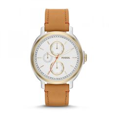 Shop for Fossil Women's Chelsey Multifunction Tan Leather Watch - Gold. Get free delivery On EVERYTHING* Overstock - Your Online Watches Store! Natural Leather, Tan Leather, Best Watch Brands, Kate Spade, Fossil Watches, Women's Watches, Wrist Watches, Michael Kors, Hair