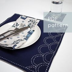 Ocean+Waves+PDF+sashiko+pattern+++modern+embroidery+by+SakePuppets,+$4.00