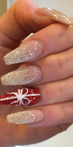 41 SUPRISING CHRISTMAS NAIL ART DESIGN Ideas for This new Year Part christmas nails acrylic; christmas nails polish See other ideas and pictures from the category menu…. Faneks healthy and active life ideas Christmas Nail Polish, Cute Christmas Nails, Christmas Nail Art Designs, Xmas Nails, New Year's Nails, Holiday Nails, Christmas Design, Winter Christmas, Christmas Ideas