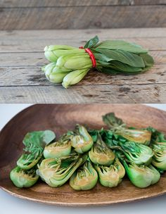 Roasted bok choy with soy sauce