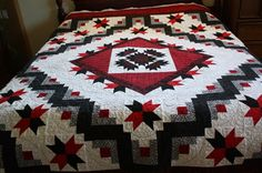 LOVE this! Red, white and black quilt.