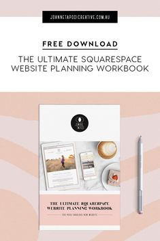 Planning and gathering together all your content, information, and knowing what you need to include on your website can be a daunting task, where do you start? No need to stress, I created this free planning workbook to make your life easier. It's the ultimate guide to help you get everything you need, ready to go, before you begin developing your Squarespace website - 10 pages packed full of valuable info, useful links and resources, as well as a checklist. #squarespace #buildyourownwebsite Graphic Design Tips, Logo Design, Train Info, Business Website, Business Tips, Build Your Own Website, Creating A Brand, Stationery Design, Stress