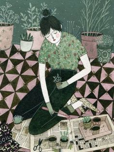 Green Thumb by Yelena Bryksenkova from What You Sow #illustration