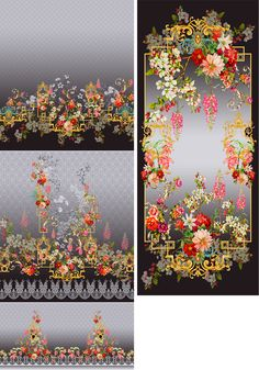 design by F.J on Behance Textile Prints, Textile Design, Floral Prints, Textiles, Graphic Design Pattern, Print Design, Paisley Art, Art Gallery Fabrics, Design Seeds
