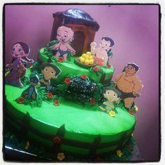 Chota bheem themed cake