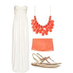 white and coral. LOVE!