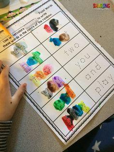 Let your little ones watercolor their sight words! Great practice! ~Sharing Kindergarten