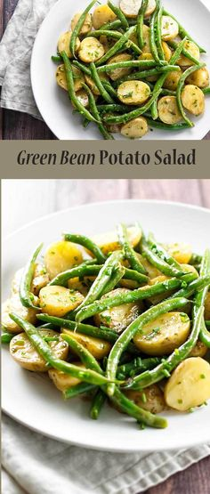 This green bean potato salad is the perfect side dish for any season! Green Bean Potato Salad - Green bean potato salad with a Dijon vinaigrette, add just enough dressing Green Bean Potato Salad, Green Beans And Potatoes, Green Bean Salads, Green Bean Dishes, White Potatoes, Vegetarian Recipes, Healthy Recipes, Cooking Recipes, Quick Recipes