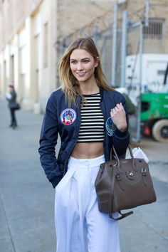 190 stunning street style looks from New York Fashion Week Fall 2016: Karlie Kloss