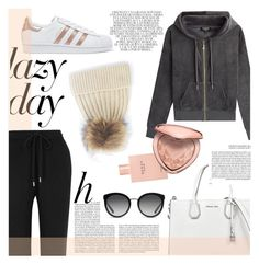 """Lazy day."" by zeljkaa ❤ liked on Polyvore featuring Juicy Couture, adidas Originals, Markus Lupfer, Whiteley, Gucci, Dolce&Gabbana, Too Faced Cosmetics and MICHAEL Michael Kors"