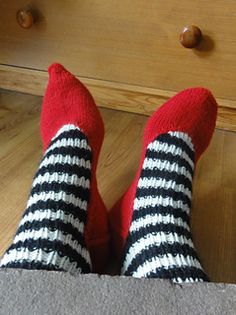 These toe up house socks could easily belong to the Wicked Witch of the east.