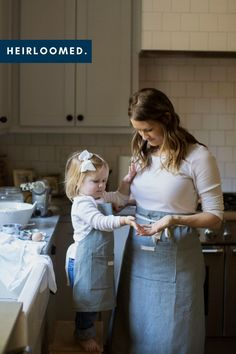 Classic apron designs for you and your little. Perfect for baking in the kitchen and making memories around the dinner table. Rustic Food Photography, Cafe Apron, Cafe Racer Build, Linen Apron, Apron Designs, Kids Apron, Monogram Styles, Mom Birthday Gift, Family Traditions