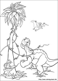 The Land Before Time coloring picture