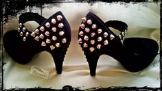 Papagena - handmade zone Hand decorated shoes, alternative shoes, gothic, studs