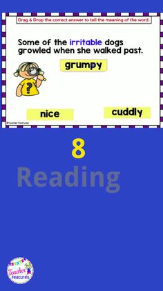 "Use this no prep, self-checking Boom Cards reading and grammar bundle to help 2nd and 3rd graders practice inferring the meaning of new words, identify context clues, clarify word meanings and master word relationships. Drag and Drop movable answers and or ""type in"" text boxes. #boomcards #boomcardsreading #2ndgrade #3rdgrade#teacherfeatures #contextclues #grammaractivities#tpt #literacycenters"