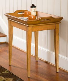 Another great find on #zulily! Brown Tray Table #zulilyfinds