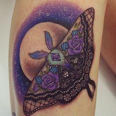 Beautiful moth tattoo