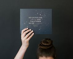 He Counts the Stars by SevenSwansStationery on Etsy