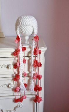 Crochet Newborn Earflap