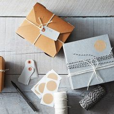 For the prettiest presents: Twine, Seal & Tags Set on Food52: http://food52.com/provisions/products/577-twine-seal-tags-set. #Food52