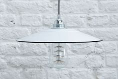 white outdoor warehouse light, industrial lamp, factory lamp, warehouse shade, pendant, vintage barn lighting | Zangra.com