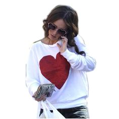 Europe Celebrity Hoodie Big Heart sweatshirt sudaderas mujer 2015 Pullovers WMH22