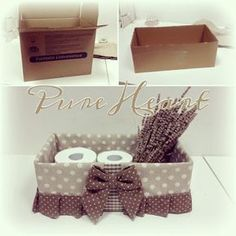 Pure HeART di Francesca Pugliese Diy Box, Home Projects, Home Crafts, Diy Home Decor, Diy Crafts, Shabby Boxes, Sewing Crafts, Sewing Projects, Covered Boxes
