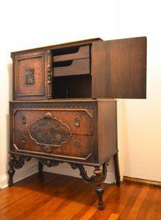 Beautiful Antique Berkey And Gay Furniture Mahogany Hand Painted Dresser | EBay