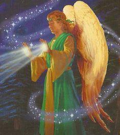 Il Raggio di Luce Bianca dell'Arcangelo Gabriele. Il Quarto Raggio di Luce del Cuore di Dio esprime nel suo sigillo dell'Arcangelo Gabriel