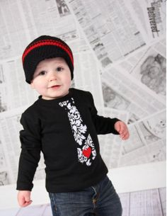 Little Man Valentine Tie Tshirt, Black,  Long or Short Sleeve - Pick Your Tie - Heart,  Children Clothing Holiday Sizes 12m, 18m, 2, 4, 6, 8. $17.95, via Etsy.