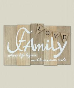 Look what I found on #zulily! Wood Family Wall Plaque by Young's #zulilyfinds
