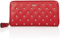 Anya Hindmarch Red Studded Heart Joss Purse