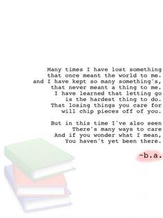 38: Something's ~b.a. Lose Something, Letting Go, Things To Do, Poems, Let It Be, Learning, Things To Doodle, Things To Make, Poetry