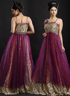 Glam Dual Shade Gown