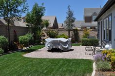love the pavers and grass combo